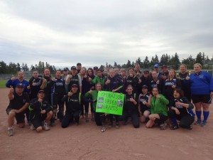 The Team I coach and my family taking the Lyme Disease Challenge!